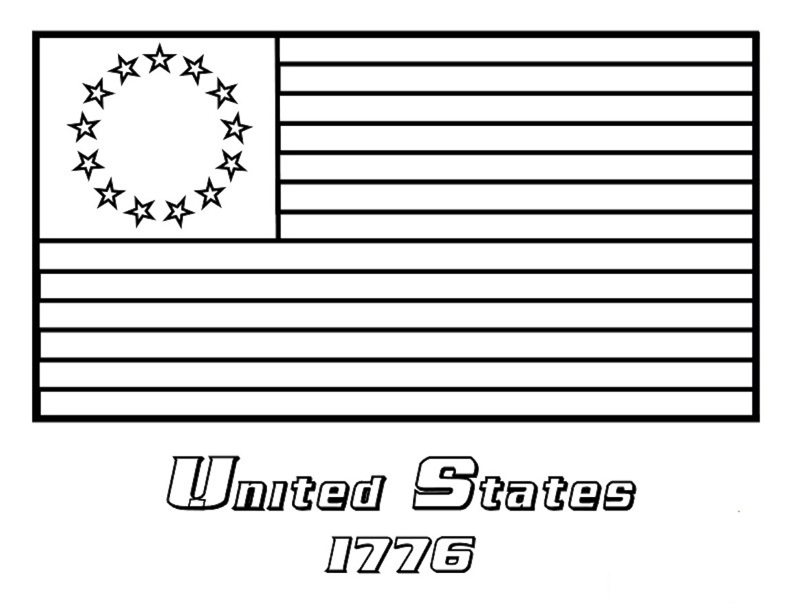 USA Flag Coloring Pages And Other Free Printable Coloring Themes
