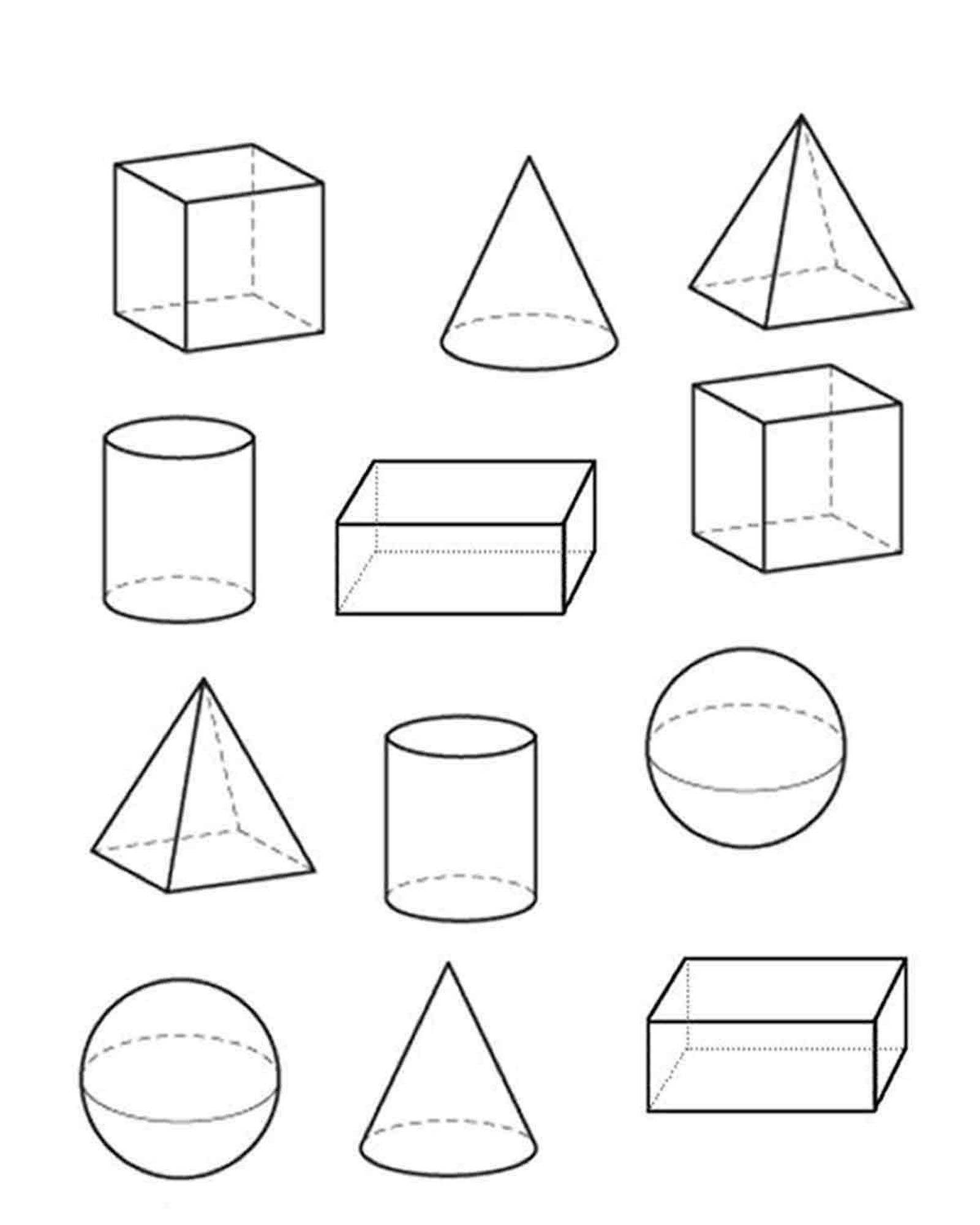 3D Shapes And Dozens More Themed Top 10 Coloring Page ...